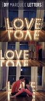 a beautiful diy tutorial for marquee letters and lights by an