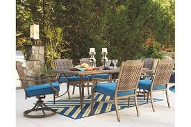 Patio Dining Table Partanna Rectangular Outdoor Dining Table Ashley Furniture Homestore