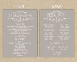 Wedding Program Sample Template Printable Program Templates 105 Printable Program Templates
