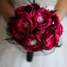 Red Wedding Bouquets Aliexpress Com Buy Ruby Red Wedding Brooch Bouquet Handmade