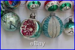 lot of 60 vintage antique glass ornaments shiny brite