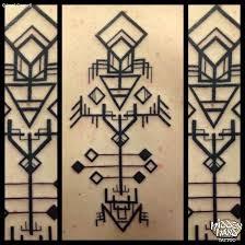 geometric design hidden hand tattoo seattle wa