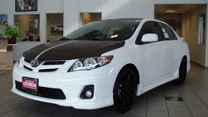 2012 toyota corolla s black wrap on hood roof and spoiler with