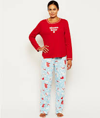 neuburger fleece pajama set sleepwear rf0078mb at