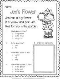 kindergarten reading comprehension passages valentine u0027s freebie