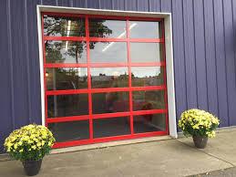 full view glass door commercial garage door full view all seasons garage door