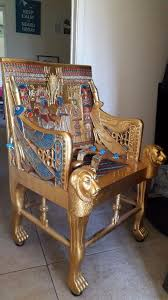 Egyptian Chair Egyptian Pharaoh Tutankhamun U0027s Throne Chair Reproduction In