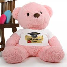 personalized graduation teddy gigi chubs 38 pink personalized graduation teddy