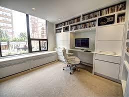 den with built in millwork bench covers radiator pipes panel