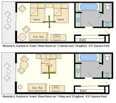 Typical Hotel Room Floor Plan Disney Disney U0027s Contemporary Resort One Of The Top Disney World