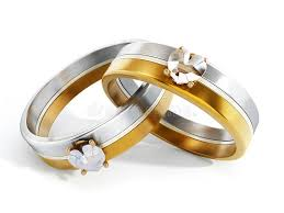 wedding rings together wedding rings attached together 3d illustration stock