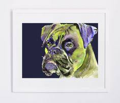 boxer dog art cyber monday sale boxer dog painting print abstract boxer wall