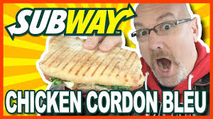 subway chef inspired chicken cordon bleu panini review youtube
