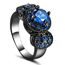 black rhodium engagement rings size 7 sapphire gem engagement ring black rhodium plated