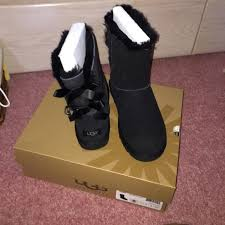ugg s boots black 33 ugg boots black ugg boots with bows on the back bailey