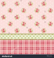Shabby Chic Style Wallpaper by Vintage Floral Wallpaper Roses Shabby Chic Stock Vector 158285702
