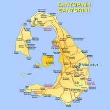 Map Of Santorini Greece by Santorini Villa Deus Location