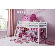 bedroom cabin bed with ladder and tent in hello kitty design p70