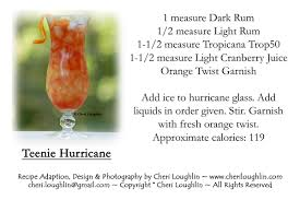 low calorie hurricane drink goes flavor the intoxicologist