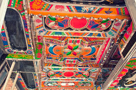 decorated truck cabin roof in indian truck painting pinterest