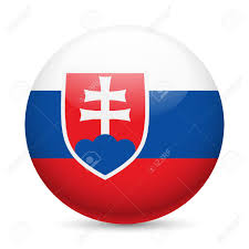 England Flag Round Flag Of Slovakia As Round Glossy Icon Button With Slovak Flag