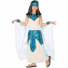 Belly Dancer Halloween Costume Cleopatra Blue Gold Child Halloween Costume Walmart