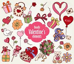 cartoon vector elements for valentine u0027s day presents hearts