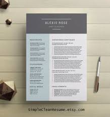 Free Modern Resume Templates For Word Complete Resume Template Cover Letter Modern Tempate Bundle
