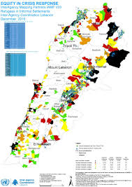 Map Of Lebanon Document Inter Agency Mapping Project Iamp U2013map Of Informal