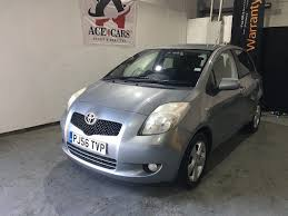 toyota yaris 1 3 petrol silver 2007 5 door hatchback manual in