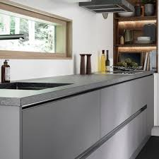 super matt grey kitchen units add an ultra modern feel