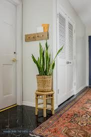 wall mounted coat rack diy modern wall mount coat rack with secret mail slot bigger
