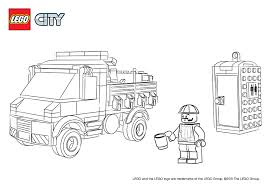 lego city fire truck coloring pages virtren com