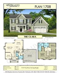 residential house plans plan 1708 the clara two story house plan greater living