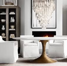 Restoration Hardware Dining Room Aero Marble Dining Table