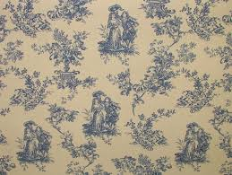 home decor blue and yellow toile fabric toile fabric what is