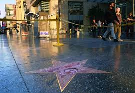 Hollywood Walk Of Fame Map Donald Trump U0027s Walk Of Fame Star Destroyed With A Sledgehammer