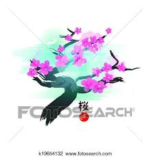 clipart of japanese cherry blossom tree k19654132 search clip