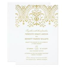 wedding invitations and gold wedding invitations gold vintage zazzle
