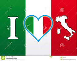Itlaly Flag I Love Italy Flag Stock Illustration Illustration Of Culture