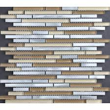 Aluminum Tile Backsplash by Chenx 11 81 In X 13 39 In Aluminum Metal Mosaic Backsplash Tiles