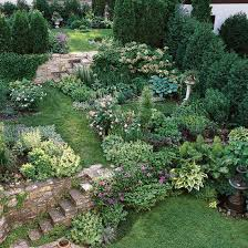 tips for taming a slope stone steps covered pergola and lattice