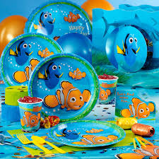 party city halloween plates finding nemo deluxe party pack party ideas under the sea