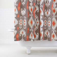 Coral And Gray Curtains Homey Design Coral And Gray Shower Curtain White Home Mannahatta