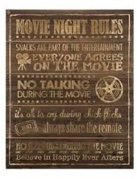 Media Game Room - game room home theater decor movie night rules tv media wooden