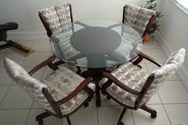 kitchen table with caster chairs dinette sets with rolling chairs relaxing life