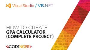 complete the table calculator vb net gpa calculator complete project youtube