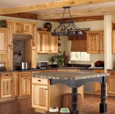 White Appliance Kitchen Ideas Astounding Hickory Kitchenbinets Ideas With White Appliances For