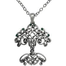 buy cgc antiqued pewter celtic knot tree of pendant necklace in