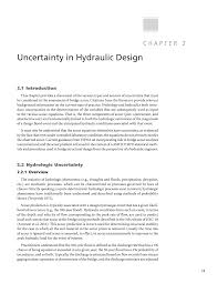chapter 2 uncertainty in hydraulic design reference guide for